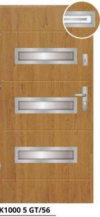 vchodové bezpečnostné dvere hnedé sklenené ekoprofil.sk