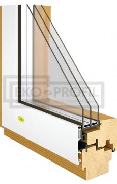 Drevene okno integral