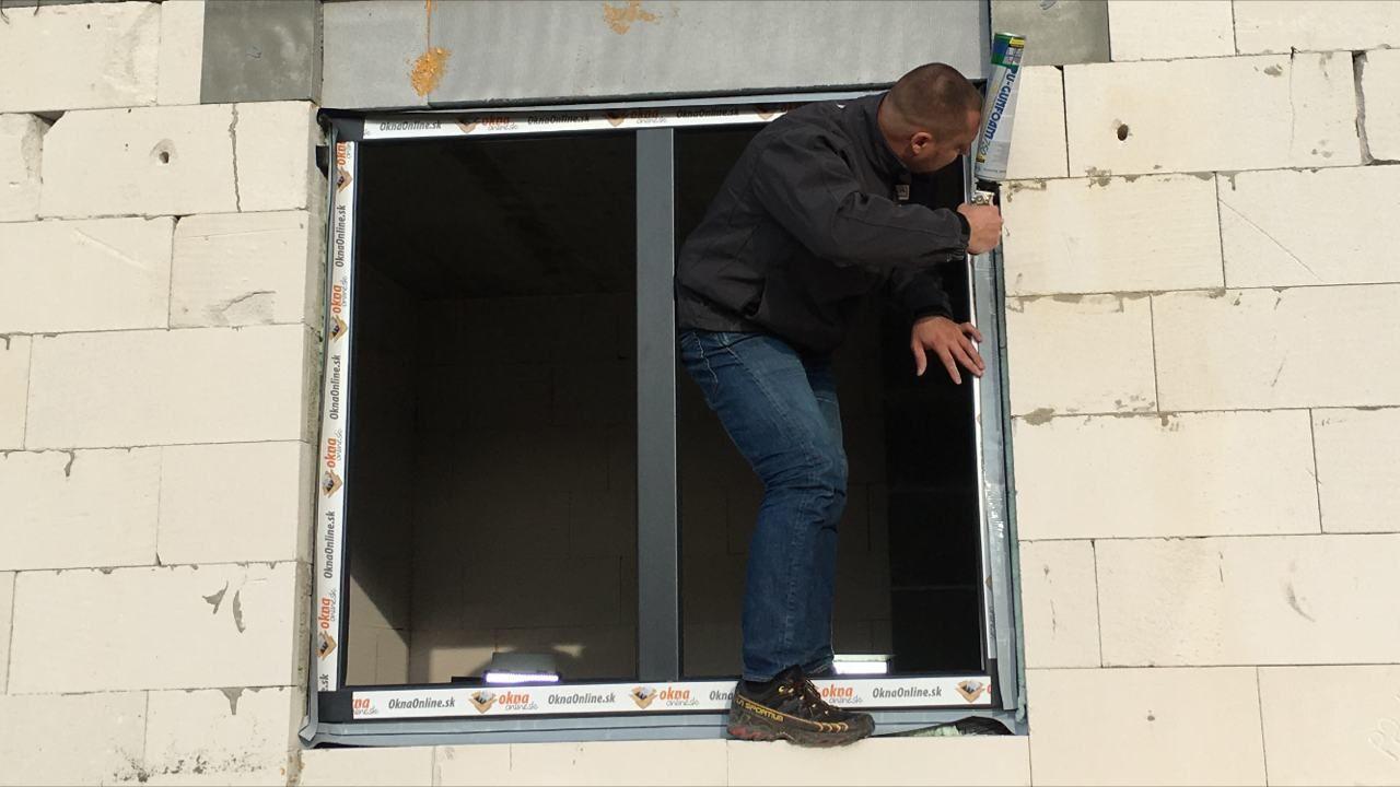 Ukážka montáže okien z vonku