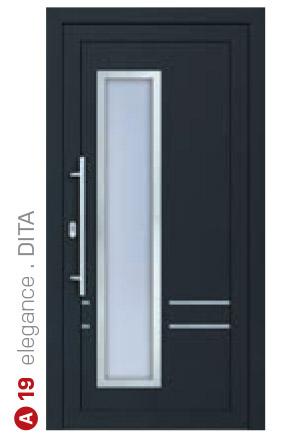 elegance dita čierne bezpečnostné plastové dvere ekoprofil.sk