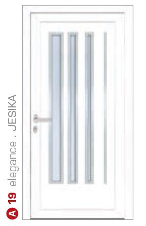 elegance jesika biele bezpečnostné plastové dvere ekoprofil.sk