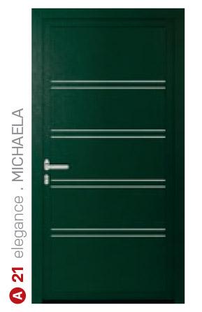 elegance michaela zelené bezpečnostné plastové dvere ekoprofil.sk