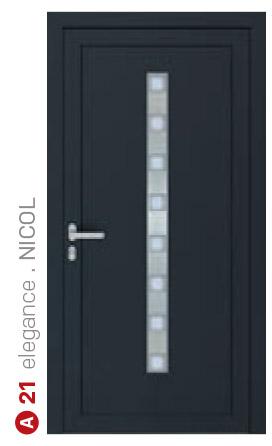elegance nicol čierne bezpečnostné plastové dvere ekoprofil.sk