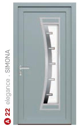 elegance simona modré bezpečnostné plastové dvere ekoprofil.sk