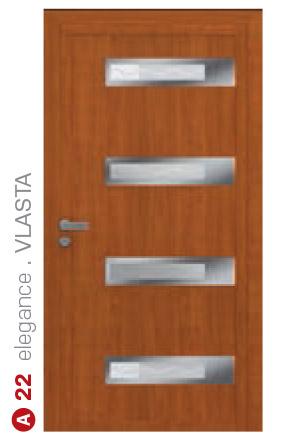 elegance vlasta hnedé bezpečnostné plastové dvere ekoprofil.sk
