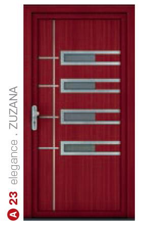 elegance zuzana červené bezpečnostné plastové dvere ekoprofil.sk