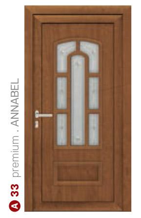 premium annabel hnedé bezpečnostné dvere ekoprofil.sk