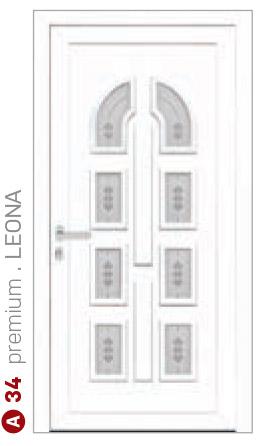 premium Leona biele bezpečnostné dvere ekoprofil.sk