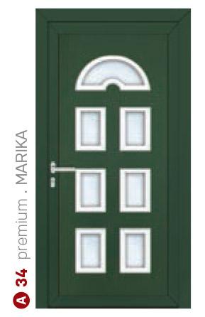 premium Marika zelené bezpečnostné dvere ekoprofil.sk