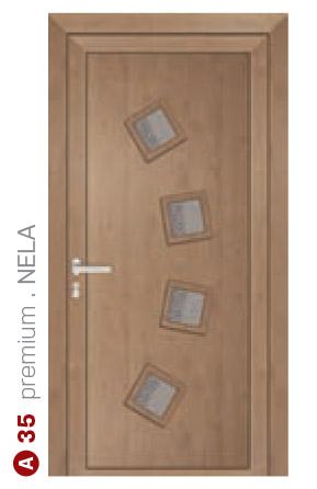 premium Nela hnedé bezpečnostné dvere ekoprofil.sk