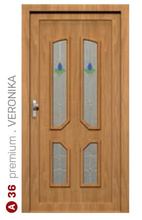 premium veronika hnedé bezpečnostné dvere ekoprofil.sk