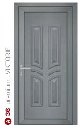premium viktorie sivé bezpečnostné dvere ekoprofil.sk