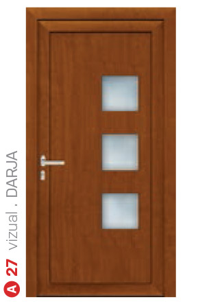 vizual darja hnedé bezpečnostné plastové dvere ekoprofil.sk
