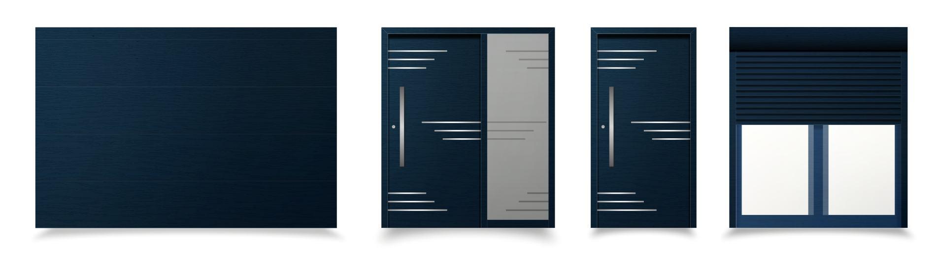 modré sivé okná a dvere livorno ekoprofil.sk