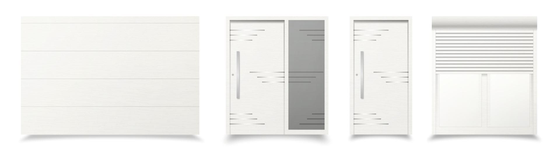 biele sivé okná a dvere livorno ekoprofil.sk