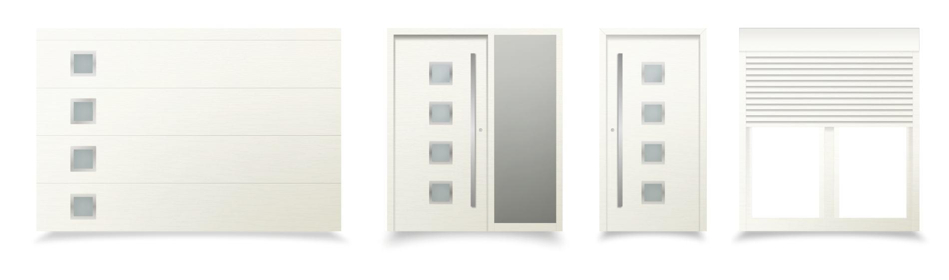biele sivé okná a dvere messina ekoprofil.sk