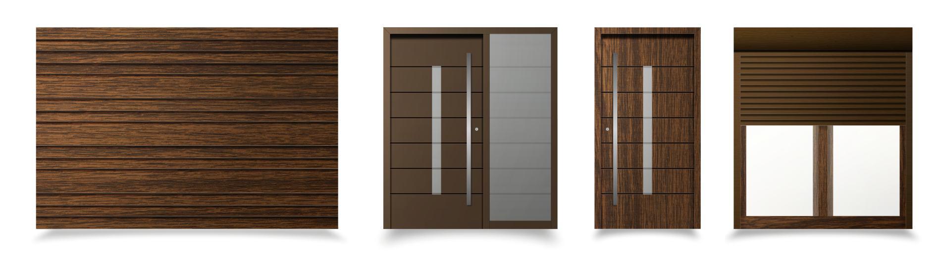 hnedé okná a dvere modena ekoprofil.sk