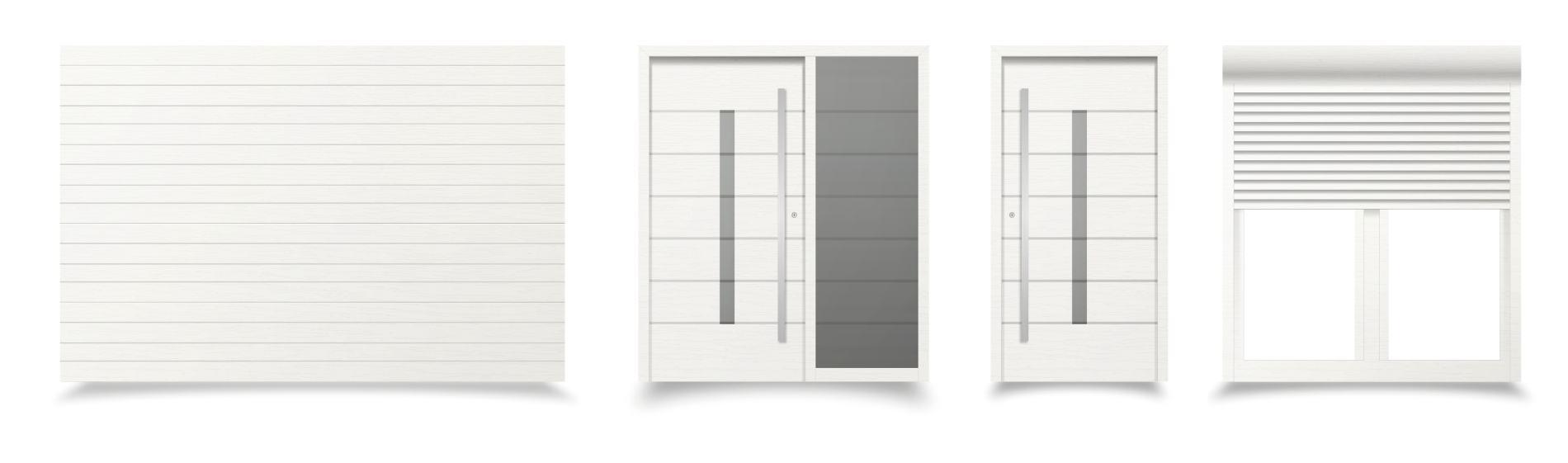 biele sivé okná a dvere modena ekoprofil.sk