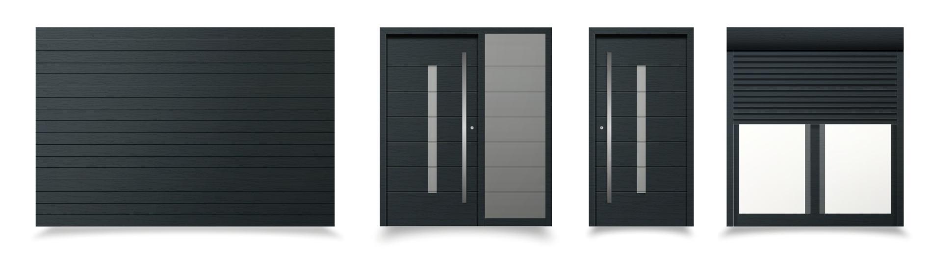 čierne sivé okná a dvere modena ekoprofil.sk