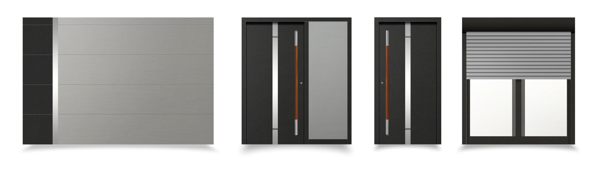 čierne sivé okná a dvere torino ekoprofil.sk