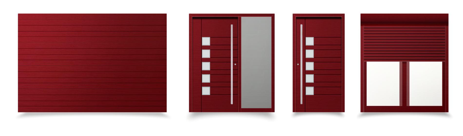 červené okná a dvere trieste ekoprofil.sk