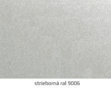 strieborná ral 9006 sekčné garážové brány ekoprofil.sk