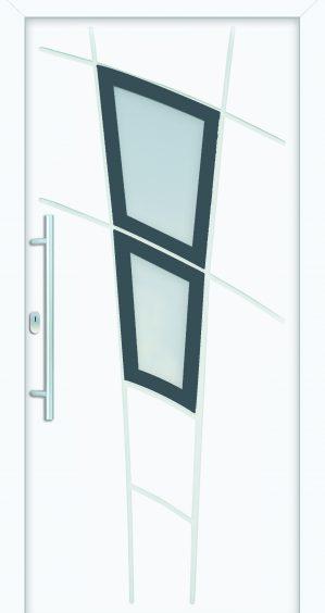 plastové dvere rada entry amamda ral 7042 biele ekoprofil.sk