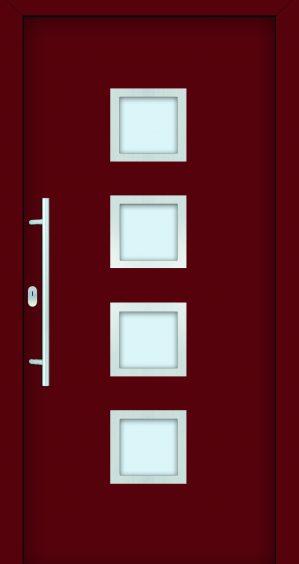 plastové dvere rada entry denisa ral3004 červené ekoprofil.sk