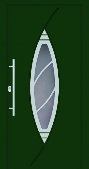 plastové dvere rada entry doris ral6005 zelené ekoprofil.sk