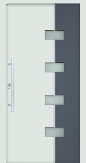 plastové dvere rada entry laura 9016 7016 sivé biele ekoprofil.sk