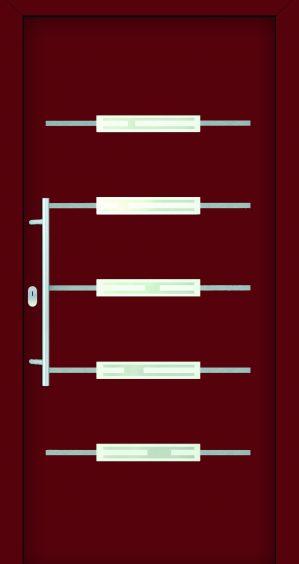 plastové dvere rada entry manon ral3004 červené ekoprofil.sk