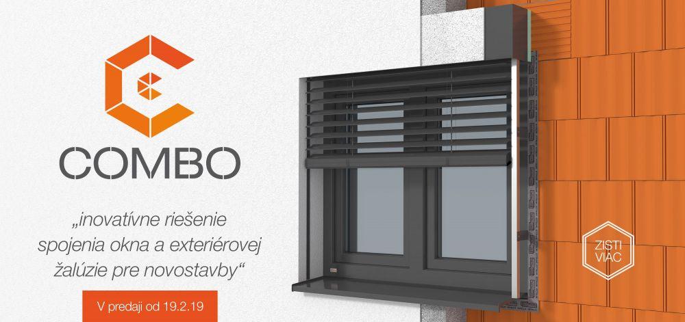 combo inovatívne riešenie spojenia okna a extriérovej žalúzie ekoprofil.sk
