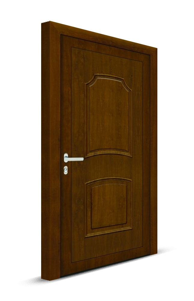 Vchodové dvere plné s plastickou aplikáciou_Ekoprofil