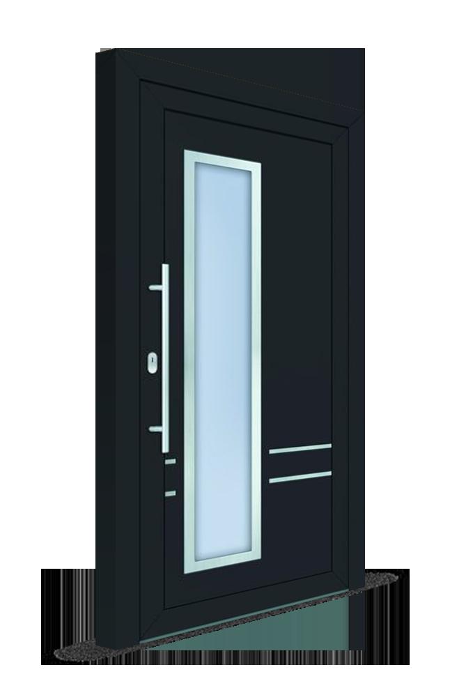 Vchodové dvere s čiastočným presklením_Ekoprofil