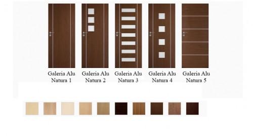 Interiérové dvere Galeria Natura Alu